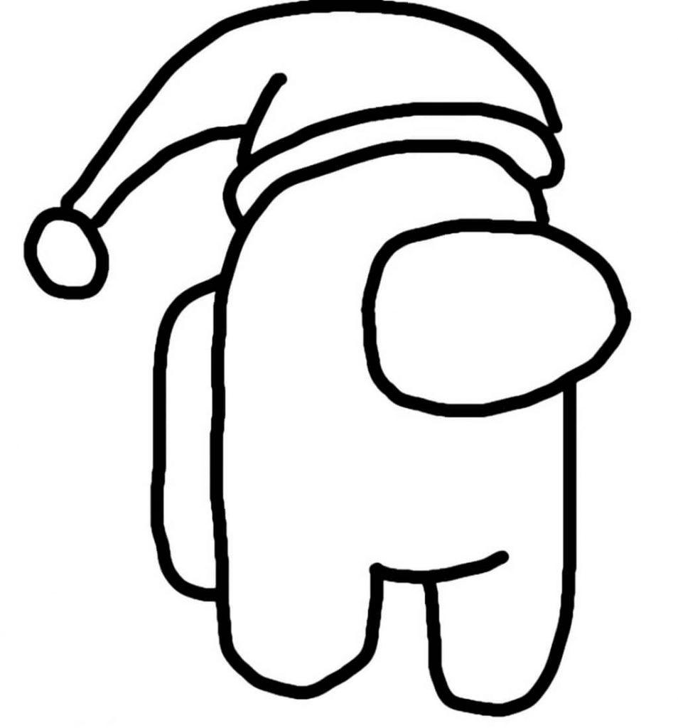 Раскраски Амонг ас Новый год - Амонг ас вики